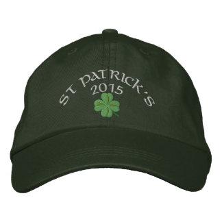 Le jour de St Patrick irlandais de shamrock Casquette Brodée