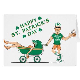 Le jour de St Patrick ivre heureux Carte De Vœux