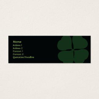 Le jour de St Patrick - maigre Mini Carte De Visite