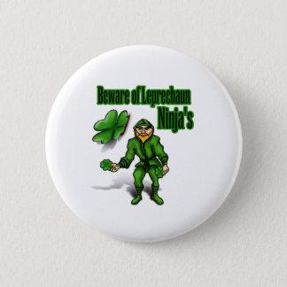 Le jour de St Patrick, ninja de lutin Badge