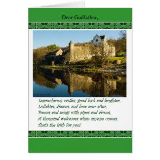 Le jour de St Patrick pour le parrain, poème, Carte De Vœux
