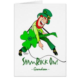 Le jour de St Patrick pour un petit-fils de Carte De Vœux