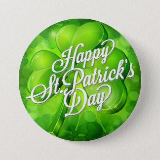 Le jour de St Patrick - shamrock et art de mot Badges