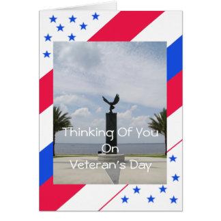 Le jour de vétéran carte de vœux