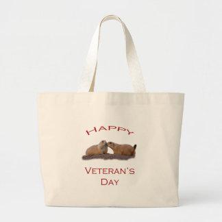 Le jour de vétéran heureux sacs en toile
