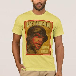 Le jour de vétéran - vétéran - n'oublient jamais t-shirt