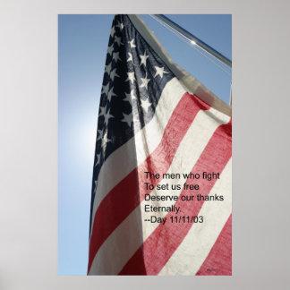 Le jour de vétérans poster