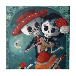 Le jour des amants squelettiques morts petit carreau carré