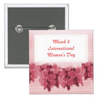 Le jour des femmes internationales de roses badges
