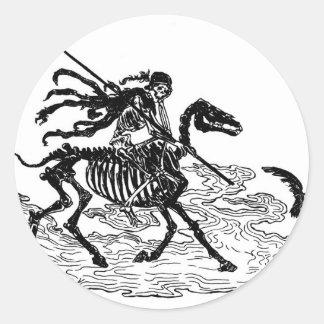 """""""Le jour des morts"""" circa 1901 Sticker Rond"""