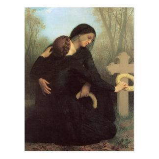 Le jour des morts par William Adolphe Bouguereau Carte Postale