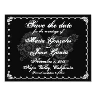 Le jour des morts sauvent les annonces de date carton d'invitation 10,79 cm x 13,97 cm