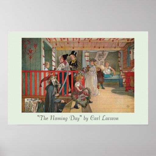 """""""Le jour nommé"""" par la copie d'art de Carl Larsson Posters"""