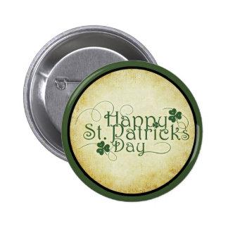Le jour Pinback de St Patrick heureux boutonne des Badges