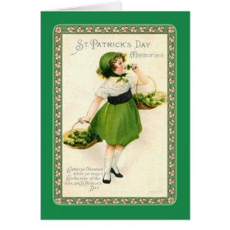 Le jour vintage de St Patrick Carte De Vœux