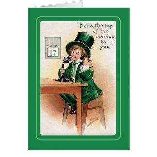 Le jour vintage de St Patrick Cartes