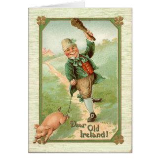 Le jour vintage de St Patrick de Shillelagh de por Carte De Vœux