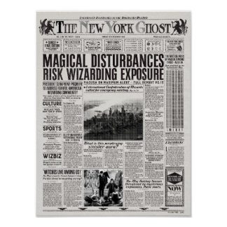 Le journal de fantôme de New York Posters