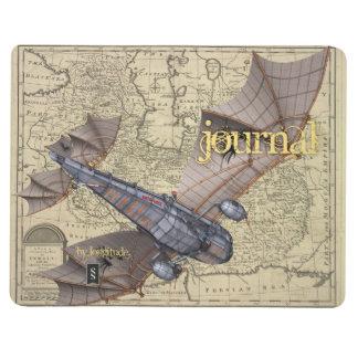 Le journal de l'aviateur de Steampunk (volant vers