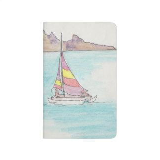 """Le journal de poche """"Fidji/bateaux"""" esquissent"""