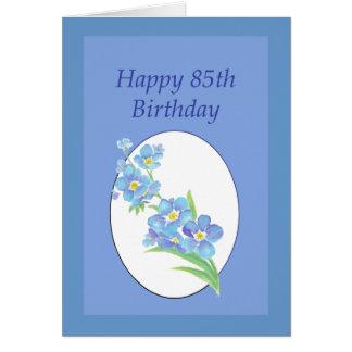 Le joyeux 85th anniversaire m'oublient pas fleur cartes
