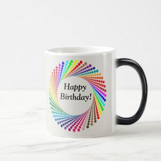 Le joyeux anniversaire apparaît comme la tasse de