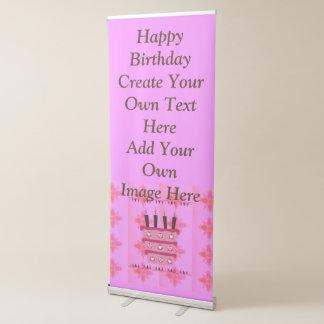 Le joyeux anniversaire créent votre propres texte banderole rétractable