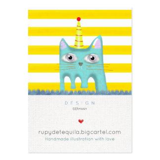 Le joyeux anniversaire de chat carde la partie carte de visite grand format