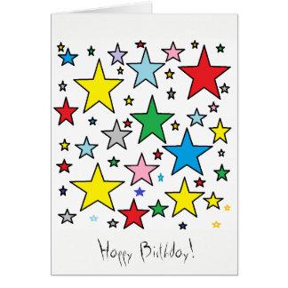 Le joyeux anniversaire tient le premier rôle la carte de vœux