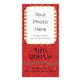 Le Joyeux Noël a personnalisé décoré Photocarte