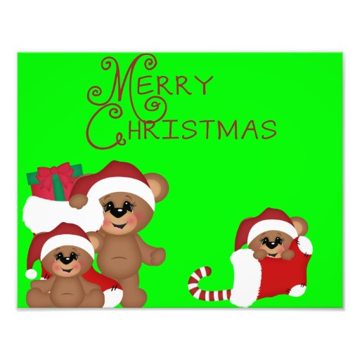 Le Joyeux Noël mignon soutient l'affiche Photographie D'art
