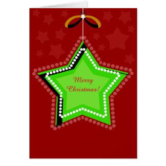 Le Joyeux Noël rouge tient le premier rôle la Carte De Vœux