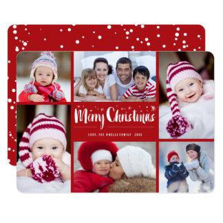Le Joyeux Noël tient le premier rôle la carte de Carton D'invitation 12,7 Cm X 17,78 Cm