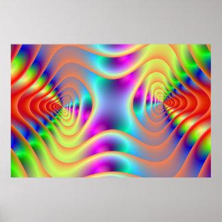 Le jumeau psychédélique se développe en spirales a posters