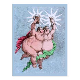 Le jumeau tient le premier rôle la roulette et le carte postale