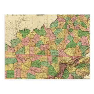 Le Kentucky, le Tennessee et une partie de Carte Postale