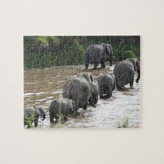 Le Kenya, aucune eau aucune expédition de rivière  Puzzle