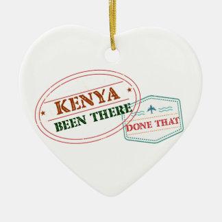 Le Kenya là fait cela Ornement Cœur En Céramique