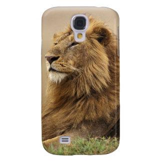 Le Kenya, masai Mara. Lion de mâle adulte sur le t Coque Galaxy S4