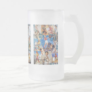 Le kitsch Bitsch : Cow-girl détruite Pin-UPS Frosted Glass Beer Mug