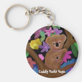 Le koala câlin étreint des porte - clés porte-clé rond