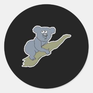 le koala mignon concernent la branche sticker rond
