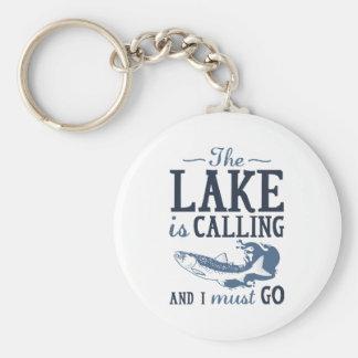 Le lac appelle porte-clé rond