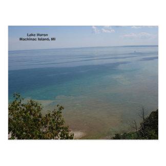 Le lac Huron à l'île de Mackinac, MI Carte Postale