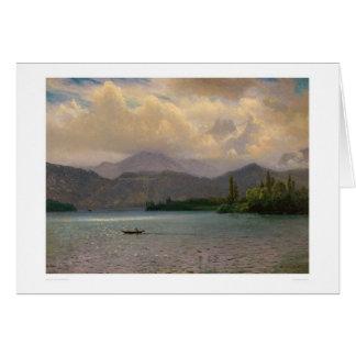 Le lac Tahoe, la Californie par Bierstadt (0102a) Carte De Vœux