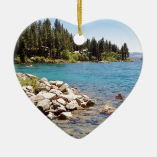 Le lac Tahoe Nevada Ornement Cœur En Céramique