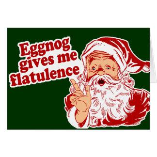 Le lait de poule donne la flatulence de Père Noël Carte De Vœux