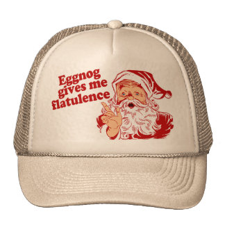 Le lait de poule donne la flatulence de Père Noël Casquettes