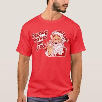 Le lait de poule rend Père Noël flatulent T-shirt