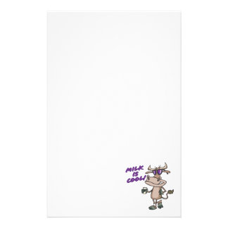 le lait est bande dessinée mignonne drôle fraîche papier à lettre